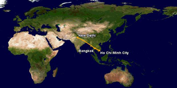 Vé máy bay đi New Delhi