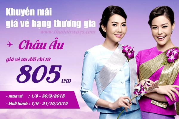 ve may bay thai airways gia re