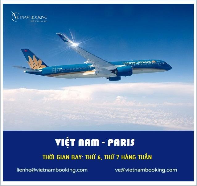 vé máy bay từ việt nam đi paris