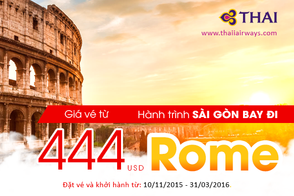 ve may bay di rome khuyen mai gia re
