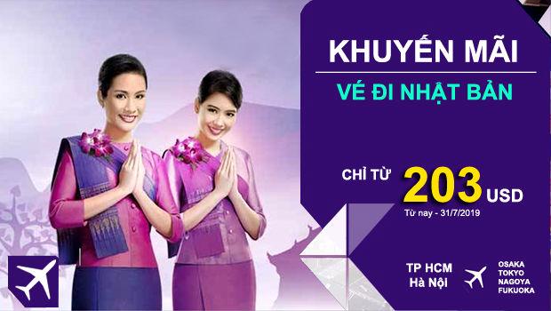 Khuyến mãi Thai Airways bay đến Nhật