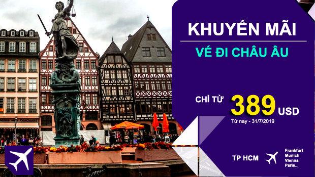 Khuyến mãi Thai Airways bay đến châu Âu từ 389 USD