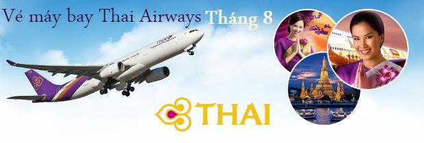 Giá vé máy bay Thai Airways tháng 8 mới nhất