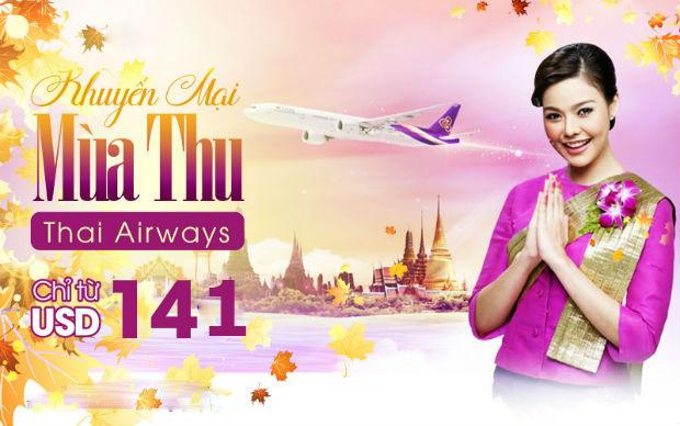 khuyến mãi Thai Airways từ 141 usd