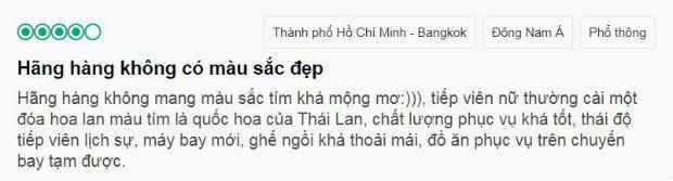 Hãng hàng không Thai Airways có tốt không