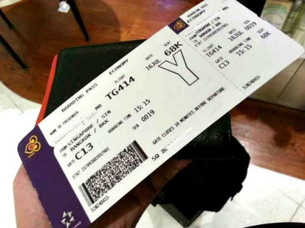 Thủ tục đổi vé máy bay Thai Airways