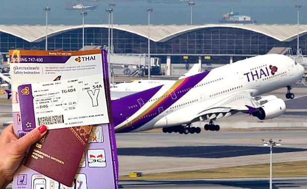 hủy vé máy bay thai airways
