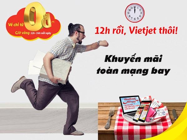 Vietjet khuyến mãi giá 0 đồng trong tháng 3-2021