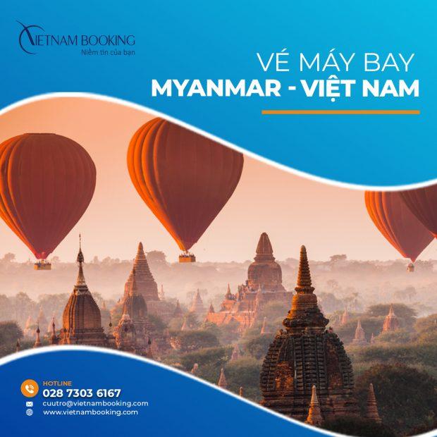 Chuyến bay từ Myanmar về Việt Nam   Lịch bay hàng tháng